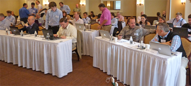 Attendees prepare for the 2013 Seminar by the Sea.