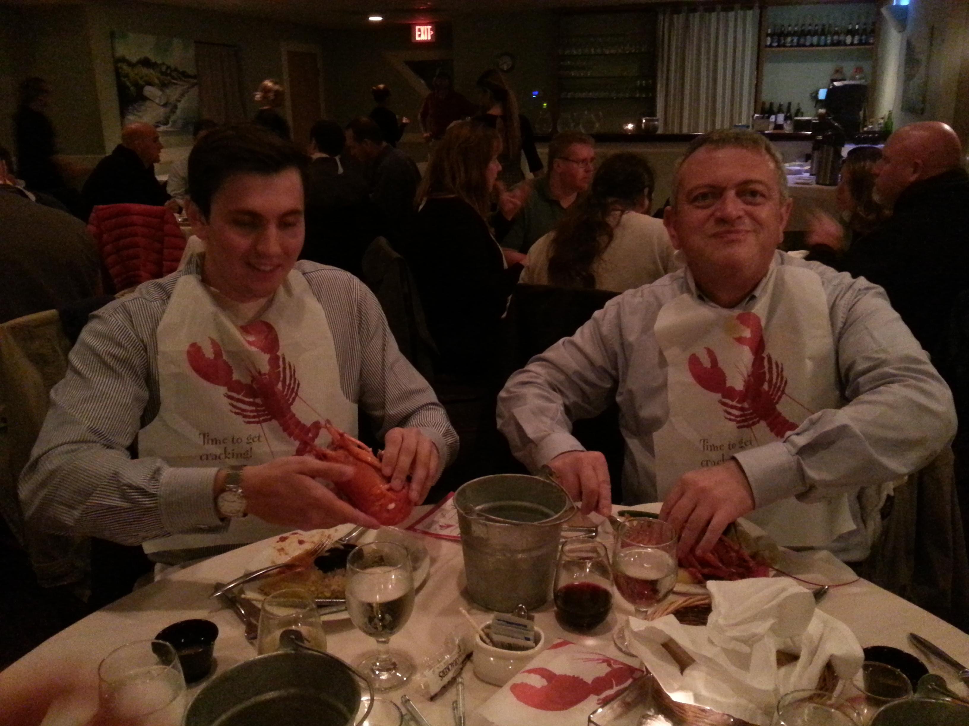 Seminar attendees enjoyed the lobster buffet.