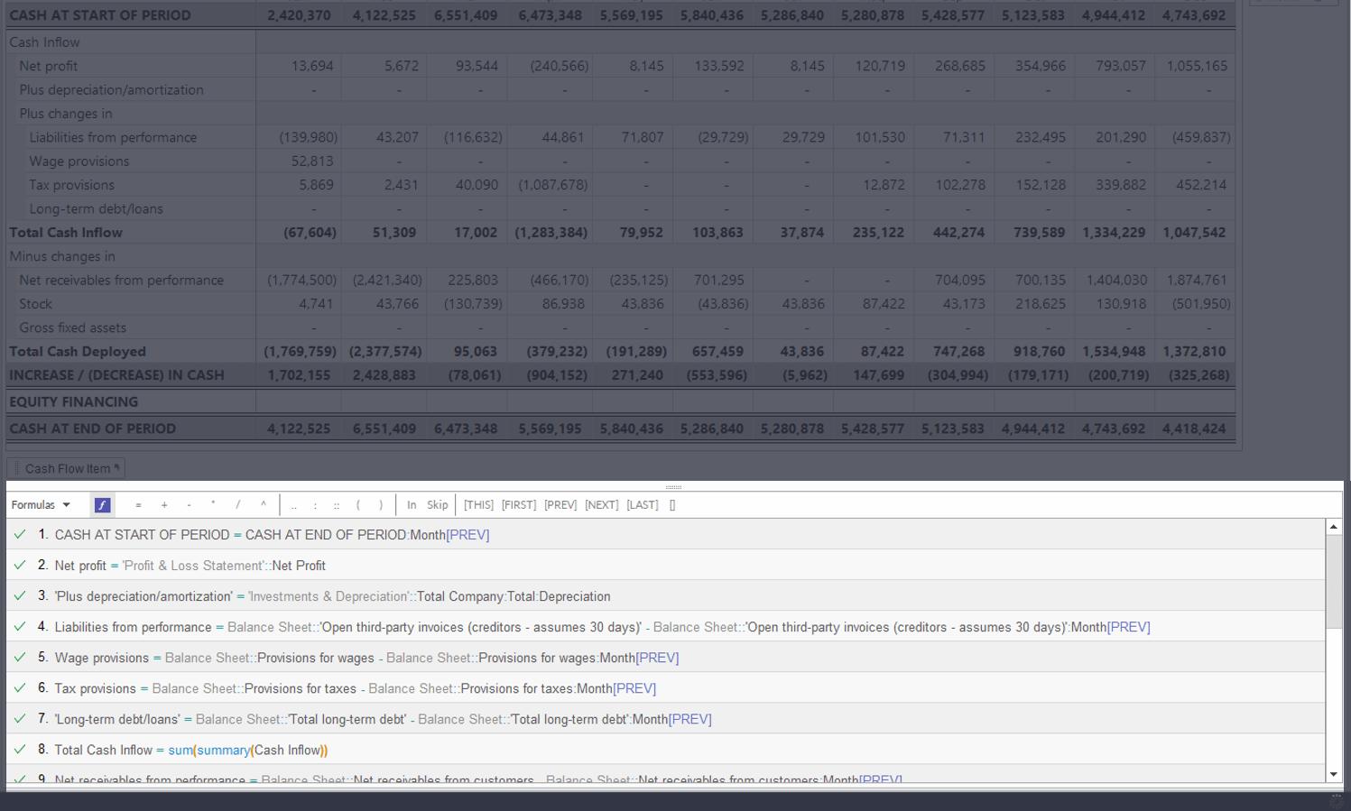 Range based formulae