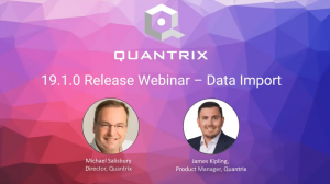 Video: Quantrix Release 19.1.0 Webinar – Data Import (March 2019)